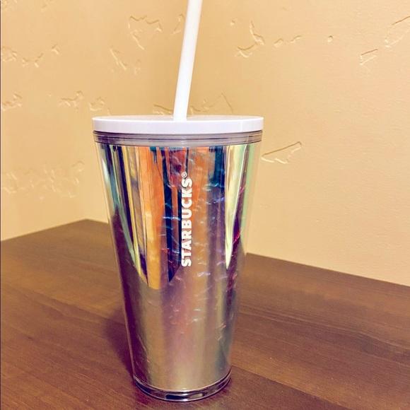 Starbucks Iridescent Rainbow Unicorn Tumbler- New